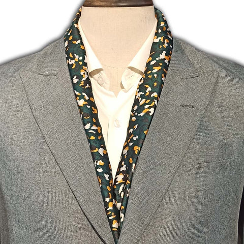 The Army Green Silk Scarf