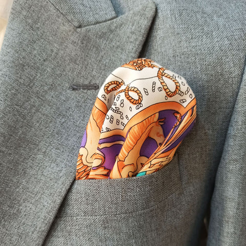 The Crown Jewel Silk Pocket Square