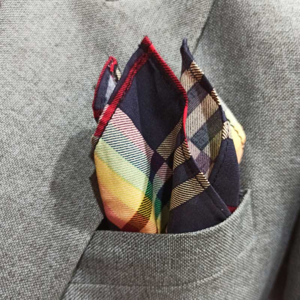The Rainbow Plaids Pocket Square