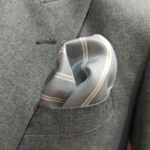 The Sand Stripes Pocket Square