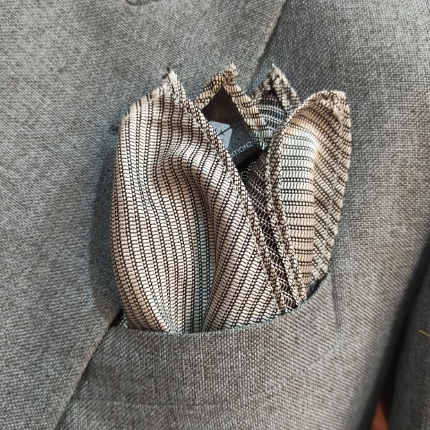 The Silver Lining Pocket Square