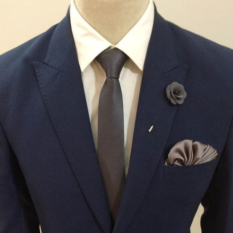 The Gray Pattern Neck Tie Set