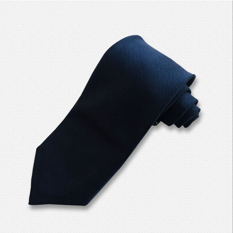 The Solid Dark Blue Neck Tie