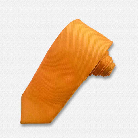 The Solid Orange Neck Tie