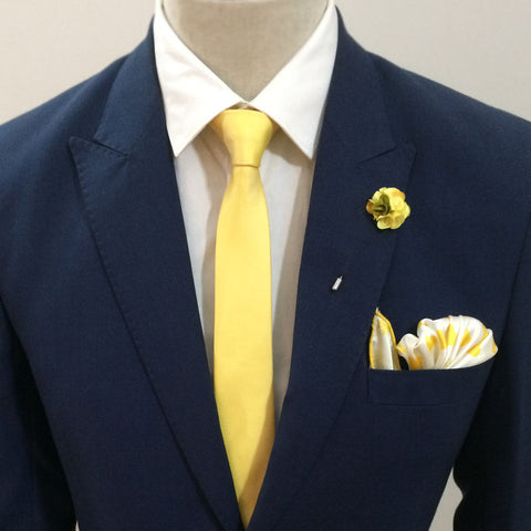 The Solid Yellow Neck Tie Set