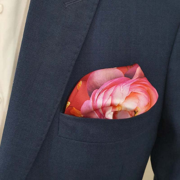 Wedding Gloom Silk Pocket Square