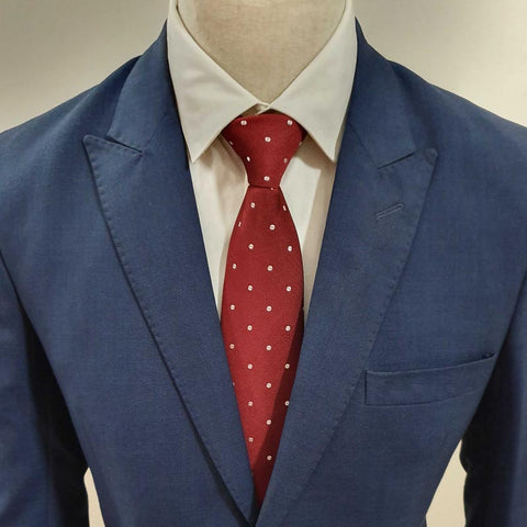 White Doted MAroon Tie