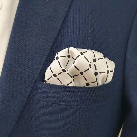 White Royal Silk Pocket Square