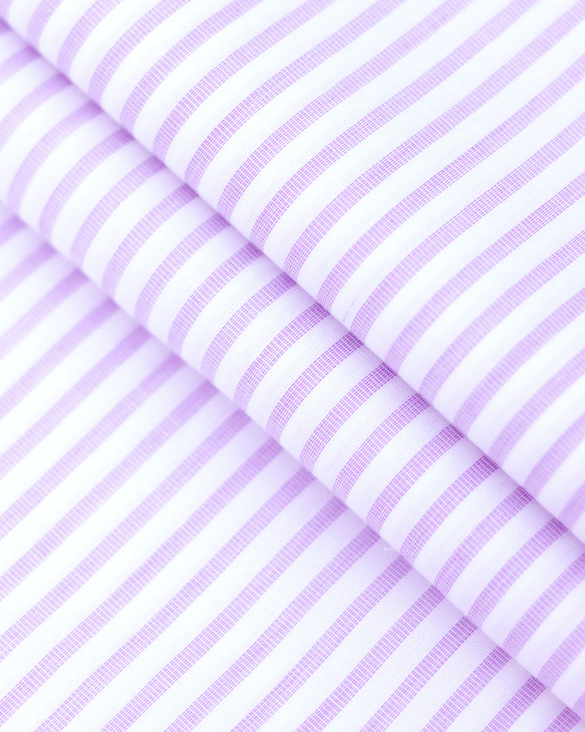 White and Lavender Stripes