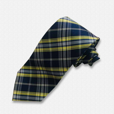 Yellow & Blue Checks And Plaids Neck Tie