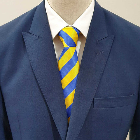 Yellow & Blue Striped Tie