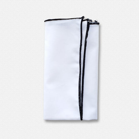 Black Edged White Cotton Pocket Square-b.jpg