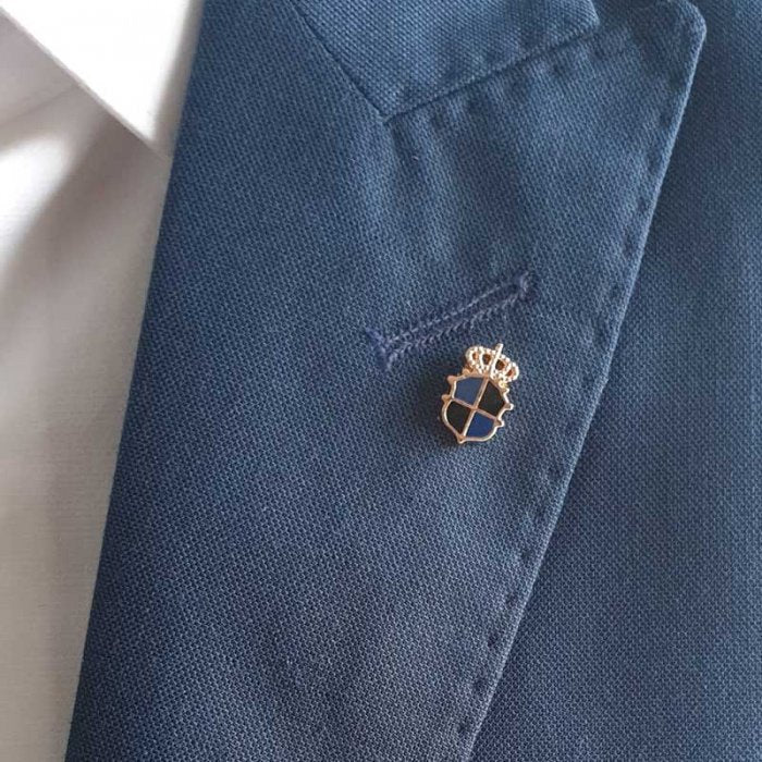 Black n Blue Crown Lapel Pin