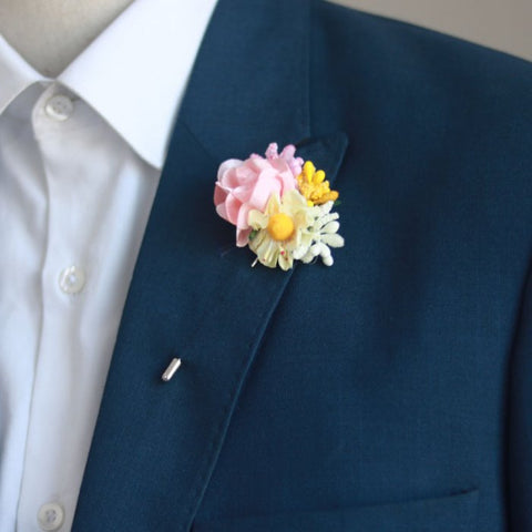 Blooming Garden Flower Lapel Pin