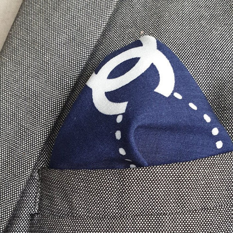 Bleu de Chanel Linen Pocket Square