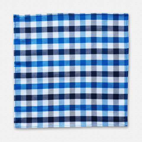 Blue Pasco Cotton Pocket Square 2
