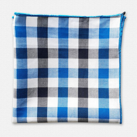 Blue Pasco Cotton Pocket Square