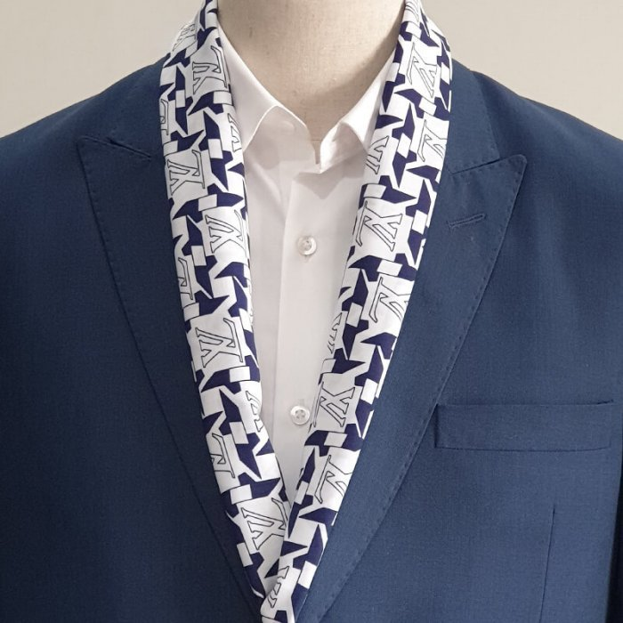 Blue & White LV Scarf