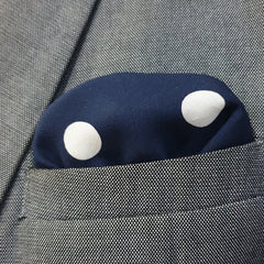 Blue & White Polkas Pocket Square