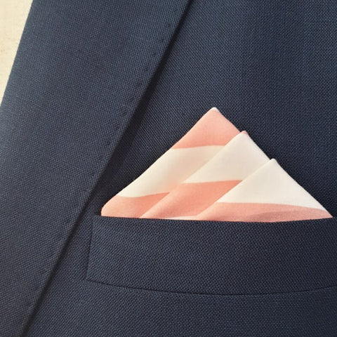 Bold Pink Stripes Pocket Square