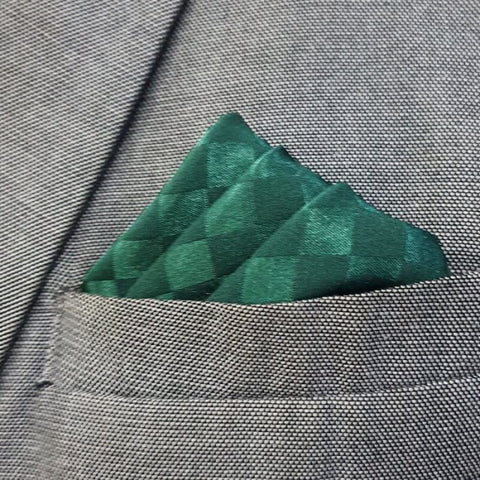 Bottle Green Boxed Pocket Square