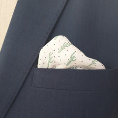 Crazy Cactus Linen Pocket Square