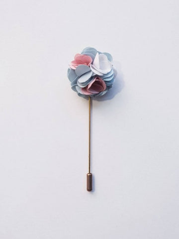 Flaminage & Pine Flower Lapel Pin