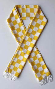 White & Yellow Boxed Scarf