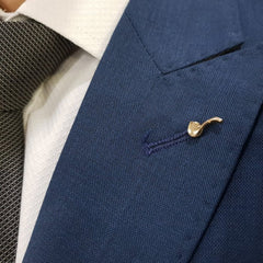 Gold Metal Pipe Lapel PIn