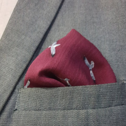 Grey Falcon Pocket Square