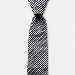 Houndstooth Love - Patterned Silk