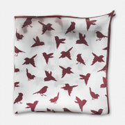 Maroon Finch Pocket Square