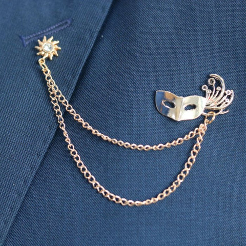 Mask of Zoro Chain Lapel