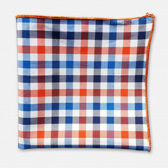Orange Pasco Cotton Pocket Sqaure