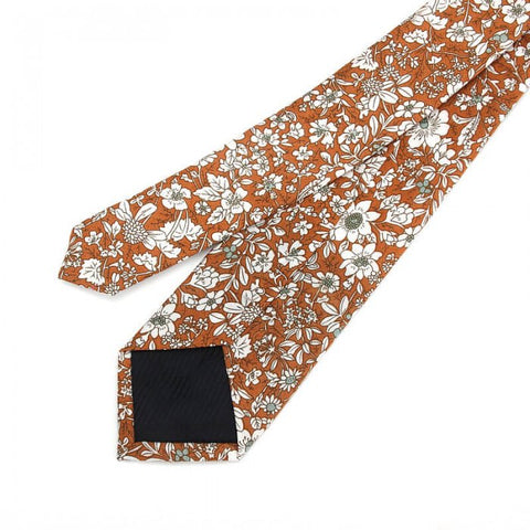 Orange Floral Cotton