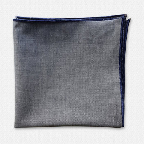Plain Denim Pocket Square