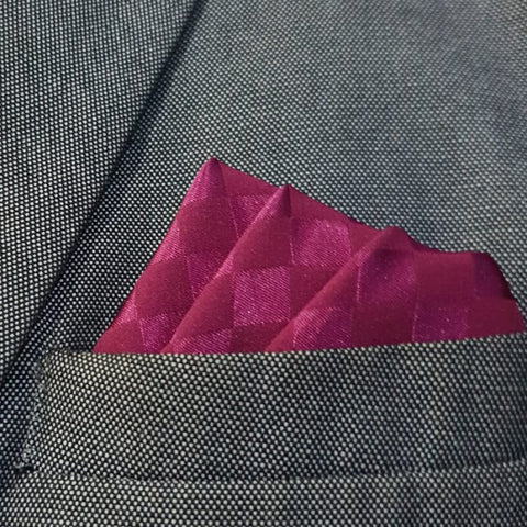 Rasberry Boxed Pocket Square