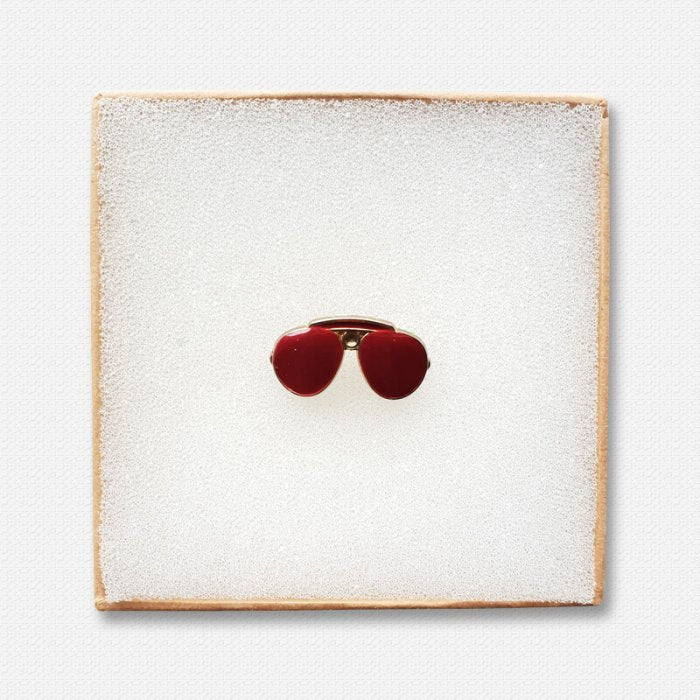 Red Glasses Lapel pin