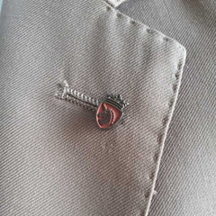Red & Silver Knight lapel Pin