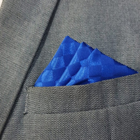 Royal Blue Boxed Pocket Square