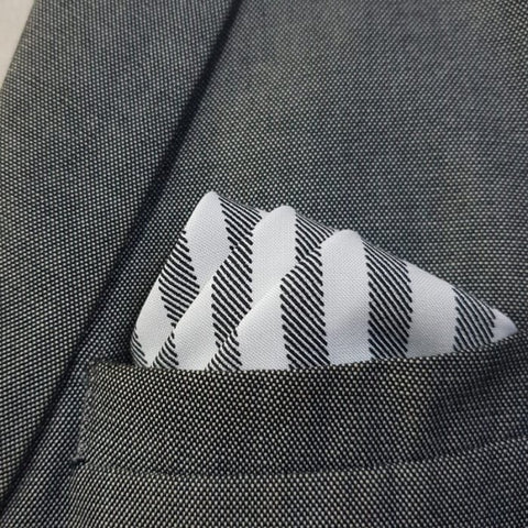Shadow Striped Pocket Square-1