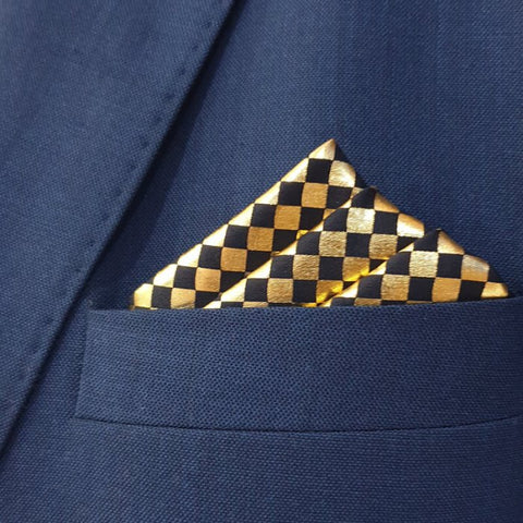 Shimmery Gold Boxed Pocket Square