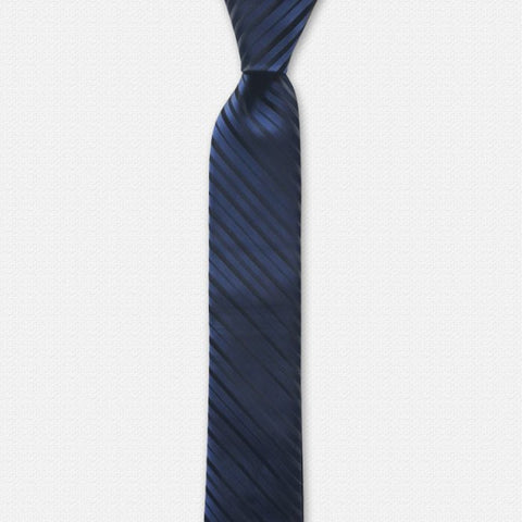Shining Blue stripes Tie