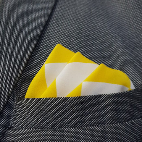 Sun White Boxed Pocket Square