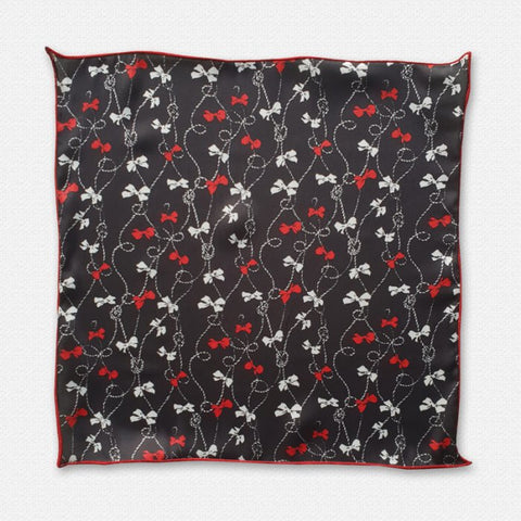 The Red Bow Pocket Square