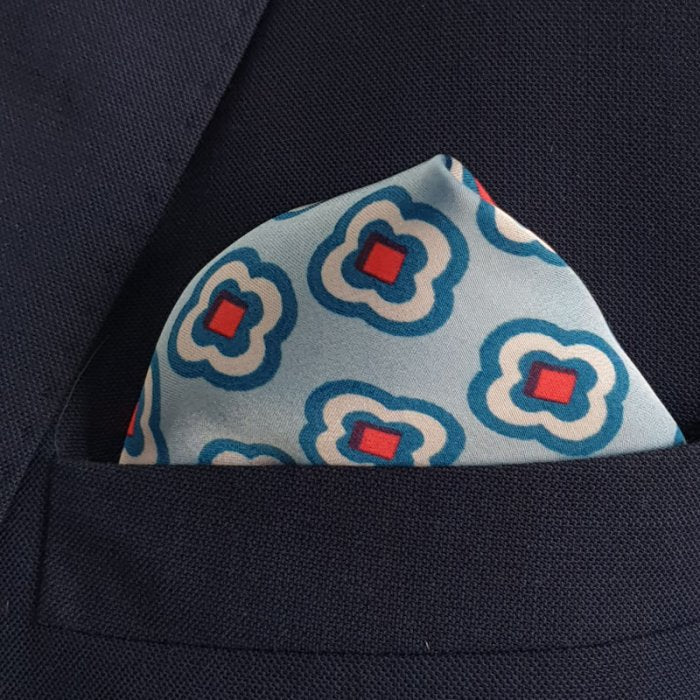 The Sky Blue Stitch Pocket Square