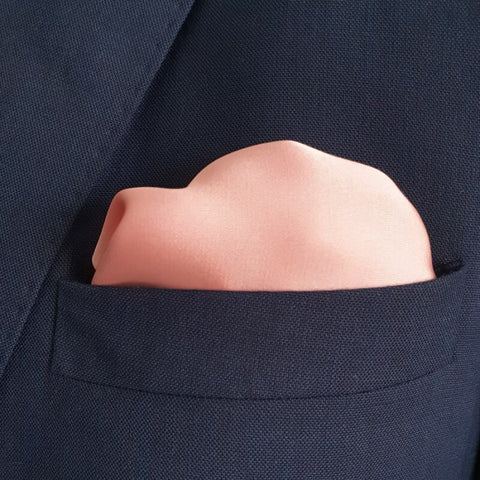 The Solid Baby Pink Pocket Square