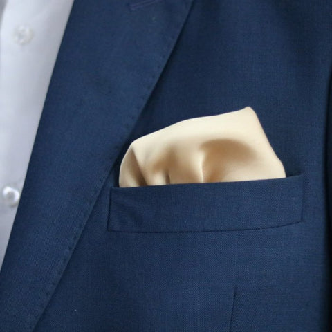 The Solid Cream Pocket Square