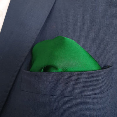 The Solid Green Pocket Square