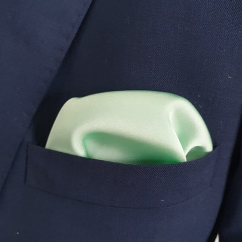 The Solid Mint Pocket Square